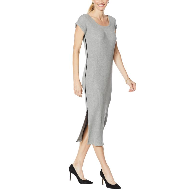 Skinnygirl Boze Midi Dress with Side Stripe