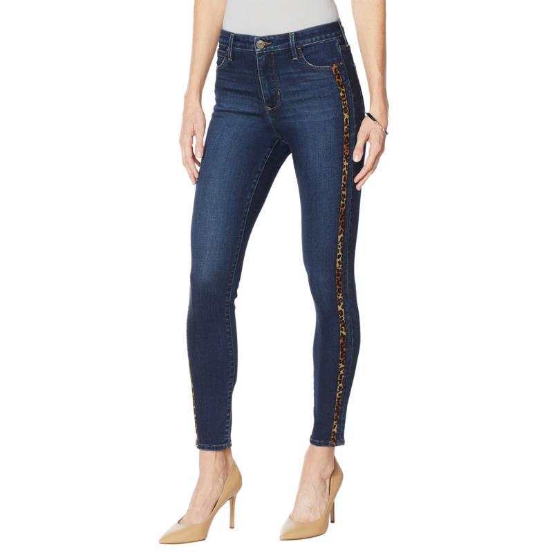 Skinnygirl Broadway High-Rise Side Stripe Skinny Jean