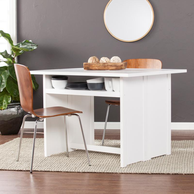 Southern Enterprises Lestrom Convertible Console To Dining Table