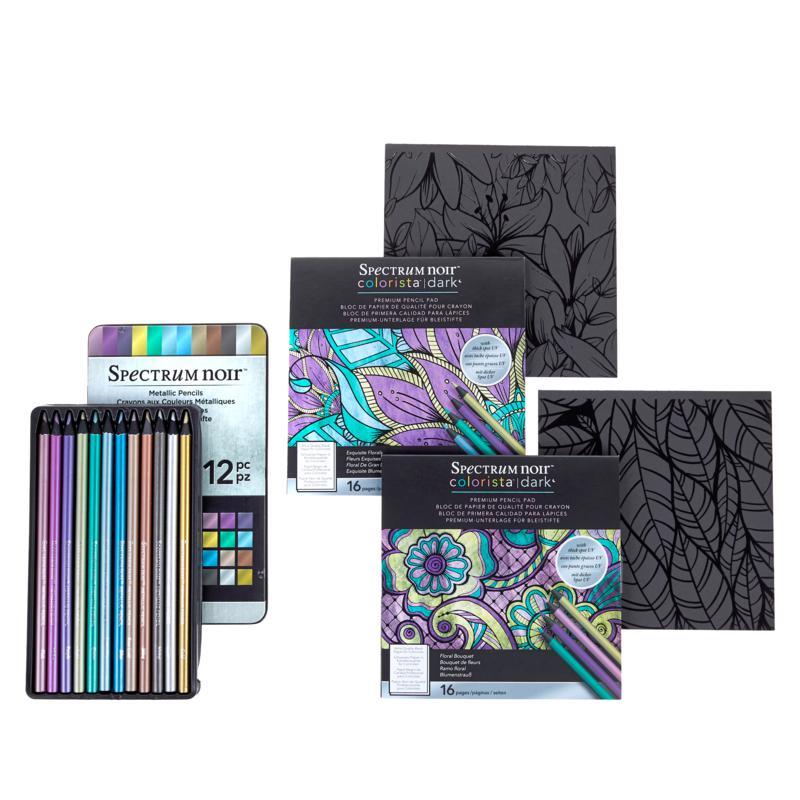 Spectrum Noir Metallic Pencils and Coloring Books