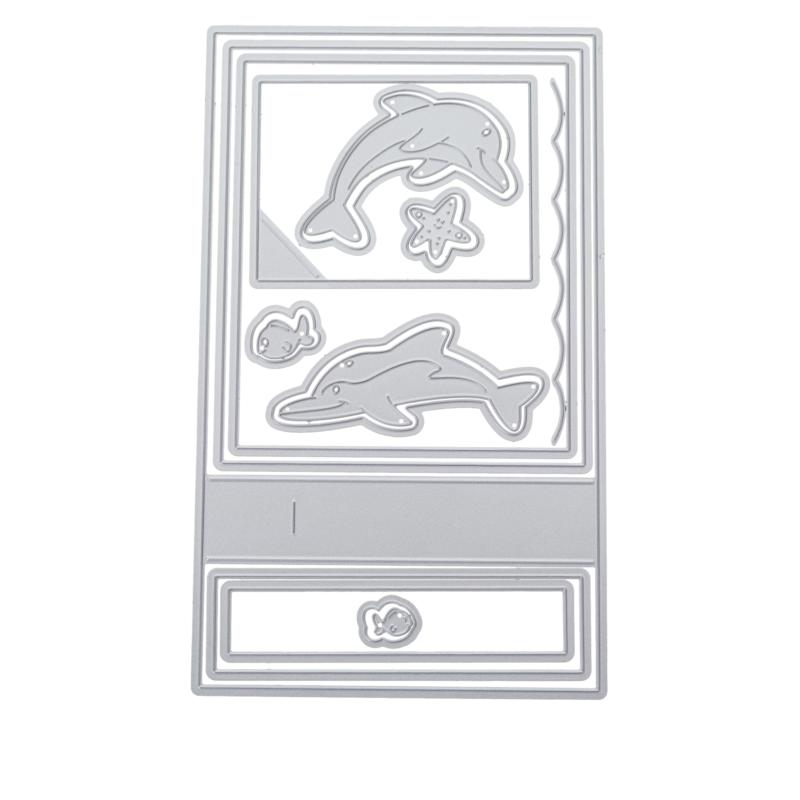 Stamps of Life Surprise Wiper Dolphin A2 Card Die Set