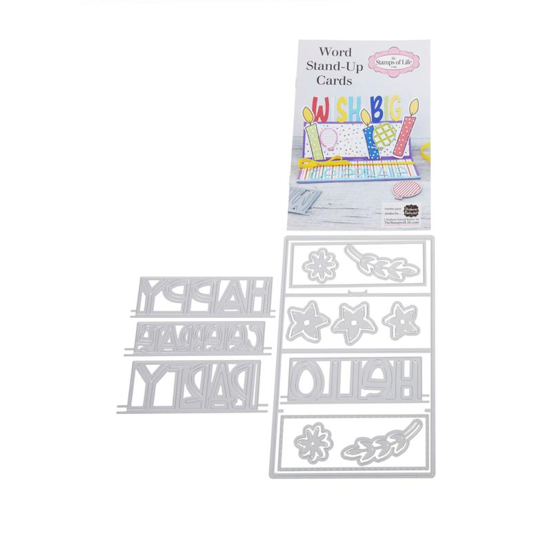 Stamps of Life Word Stand-Up A2 Card Base and Word Card Dies
