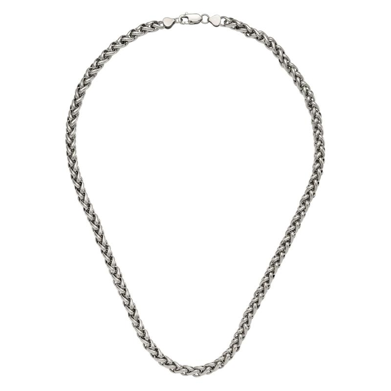 "Stately Steel 24"" Bold Spiga Chain"