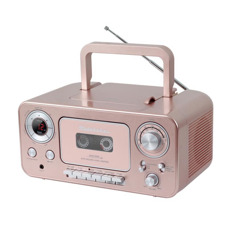 Studebaker Portable CD Player w/AM/FM Radio & Cassette Player/Recorder