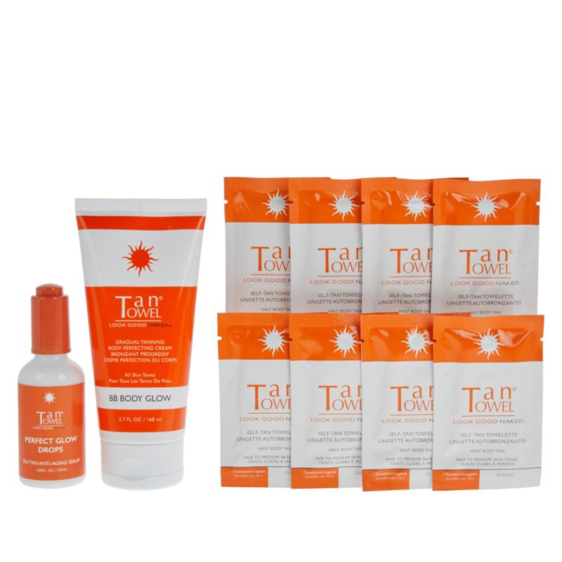 TanTowel® 10-piece Kit with Perfect Glow Drops - Classic