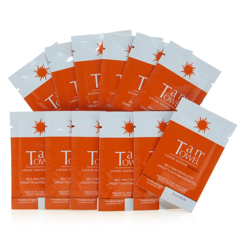 TanTowel® Half-Body Plus 12-pack