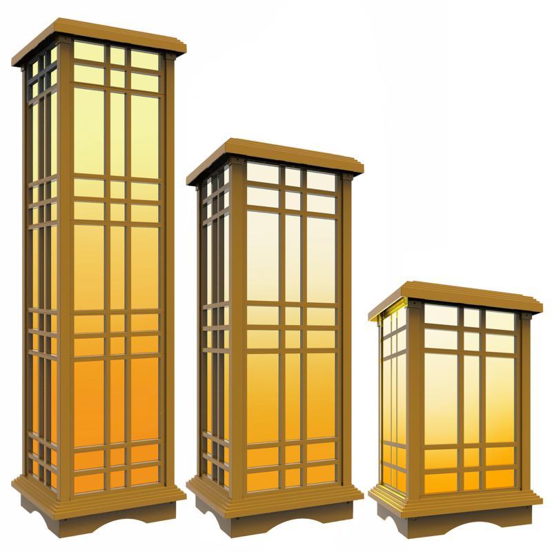 Techko SJL-606-1 Solar Zen Lantern 3-Pack Bundle