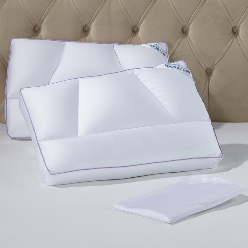Tony Little DeStress® Micropedic Pillow 2-pack w/2 Pillowcases - Full