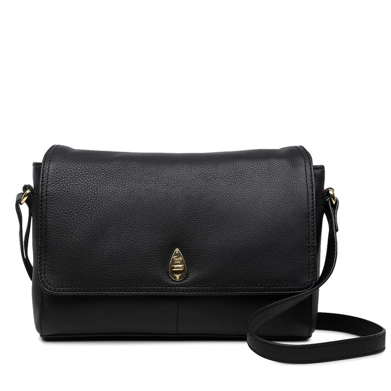 Tula England Lock Original Leather Crossbody Bag