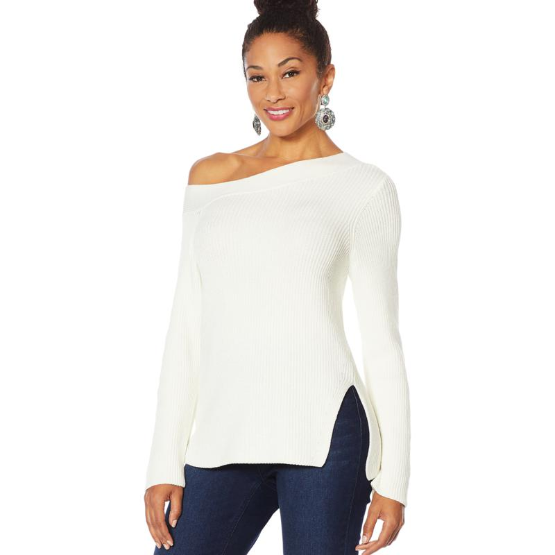 Vanessa Williams Off-Shoulder Knit Sweater