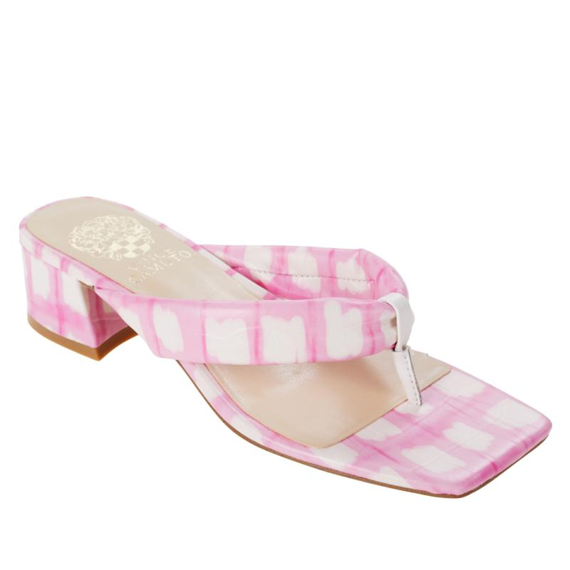 Vince Camuto Sabrinda Leather Block Heel Thong Sandal