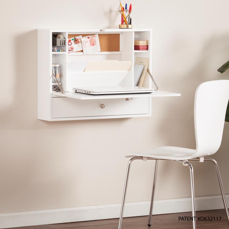 Wall Mount Laptop Desk - White
