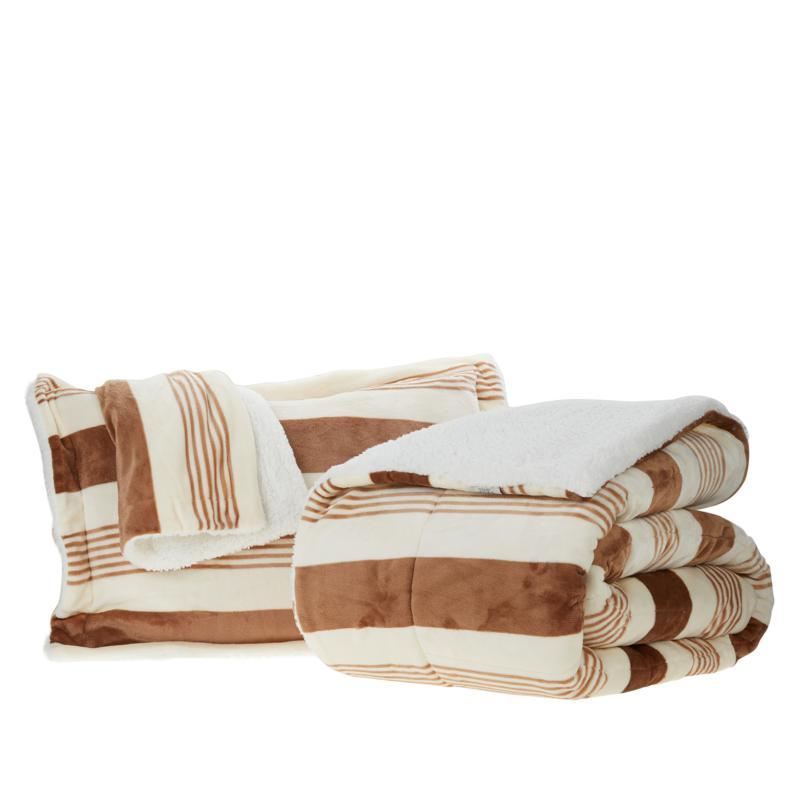 Warm & Cozy Plush Sherpa 3-piece Comforter Set