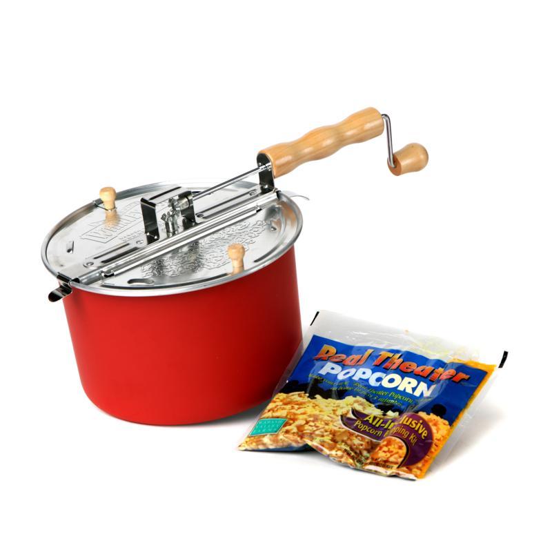 Whirley Pop Barn Red Popcorn Kit