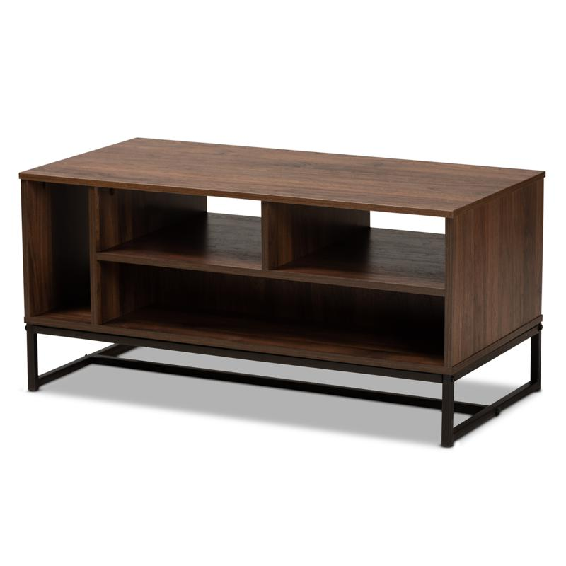 Wholesale Interiors Flannery Wood and Metal Coffee Table