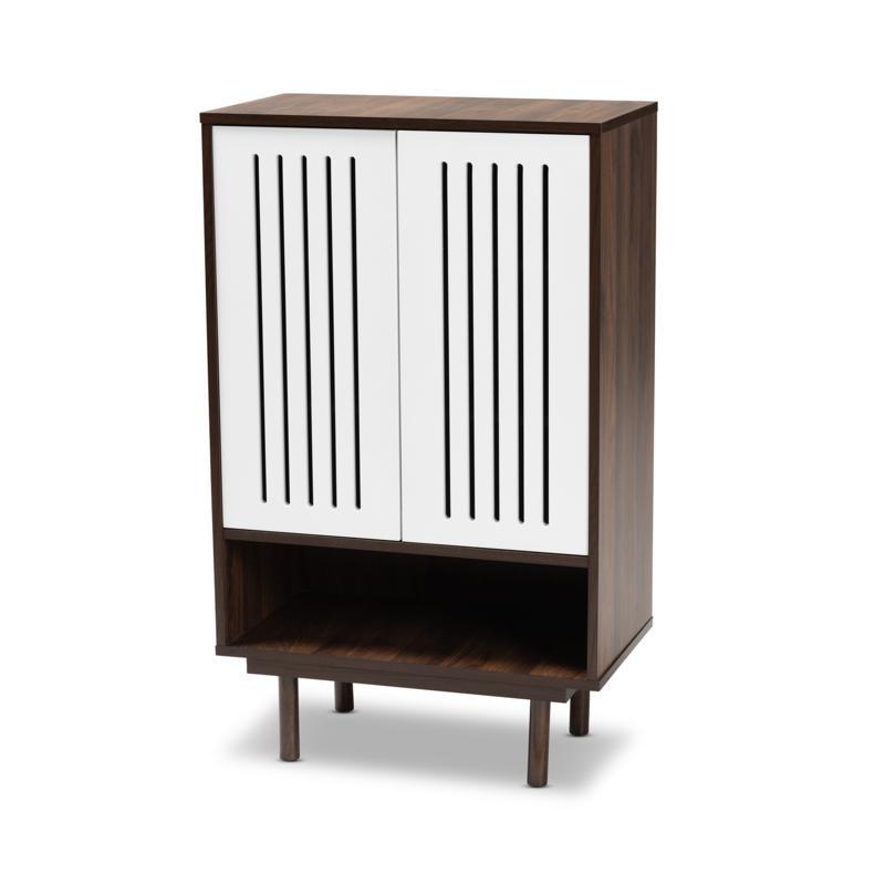 Wholesale Interiors Meike Wood 2-Door Shoe Cabinet