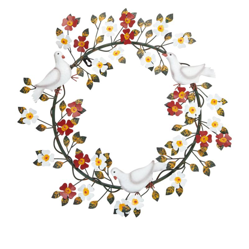 """Wind and Weather 20"""" Metal Holiday Wreath"""