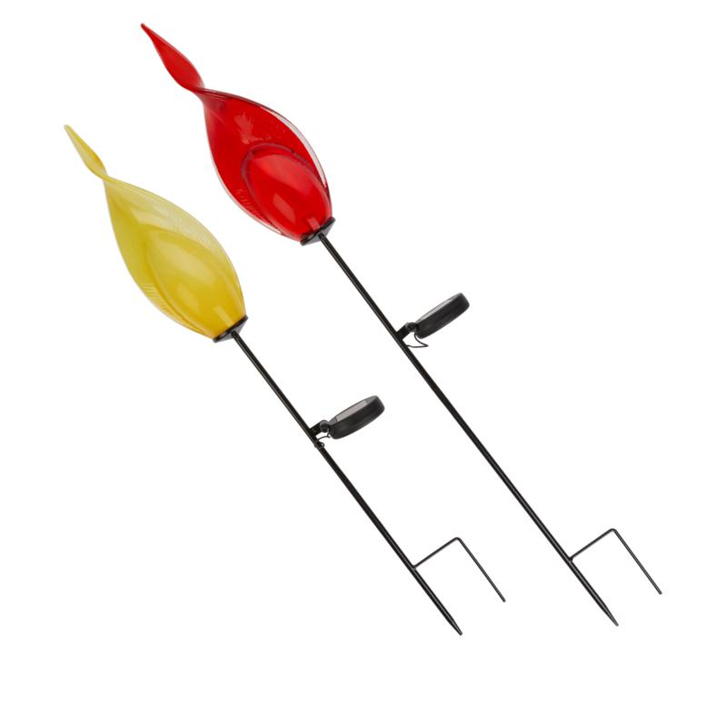 Wind and Weather Solar Glass Stakes - Set of 2