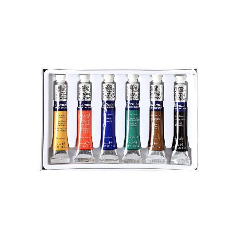 Winsor and Newton Cotman Watercolor 6-Tube Set