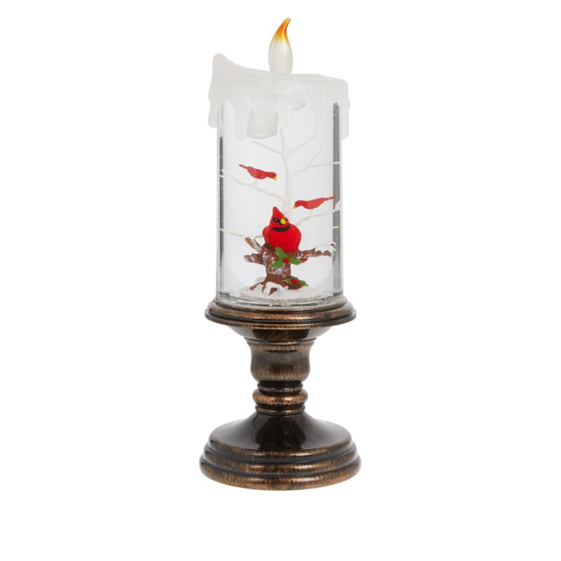 Winter Lane Glitter Candle with Timer