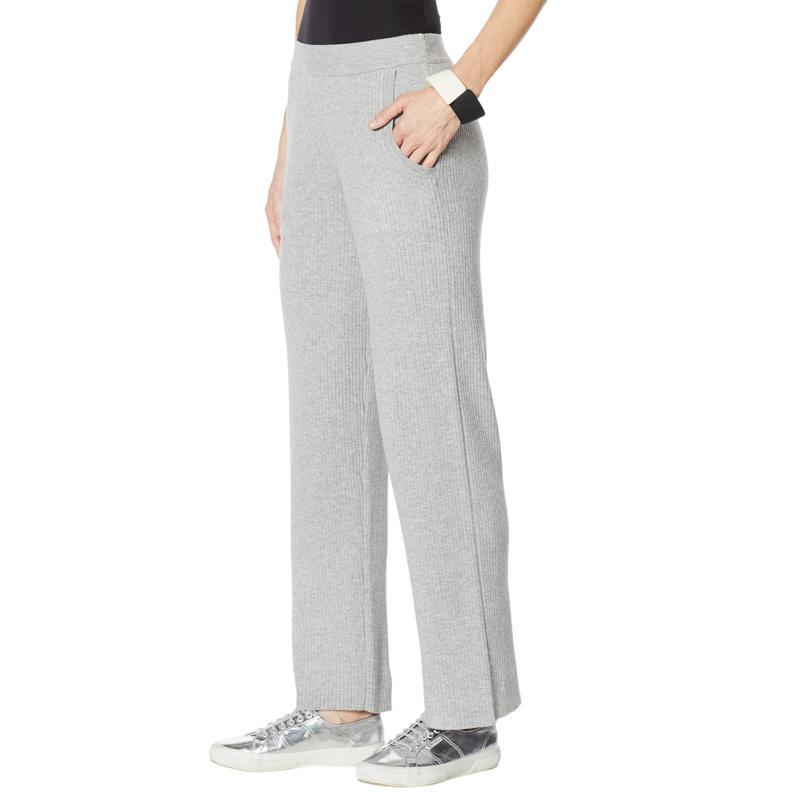 WynneLayers Soft Knit Straight-Leg Sweater Pant