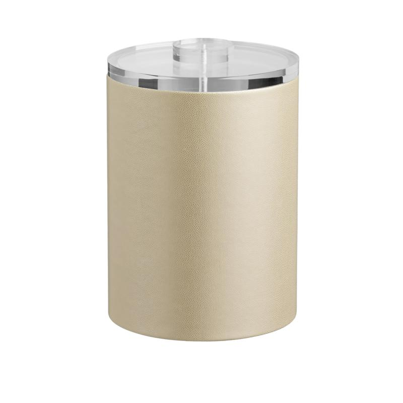 Zappa Tall 2-Quart Beige Ice Bucket with Lucite Lid