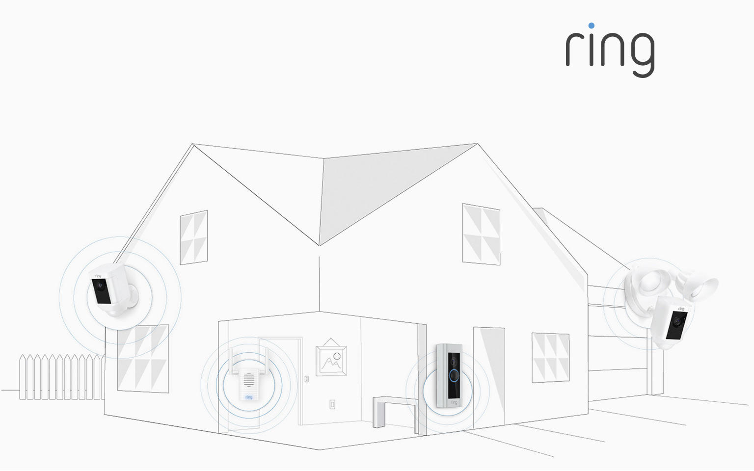 Smart, affordable security because with Ring, you're always home