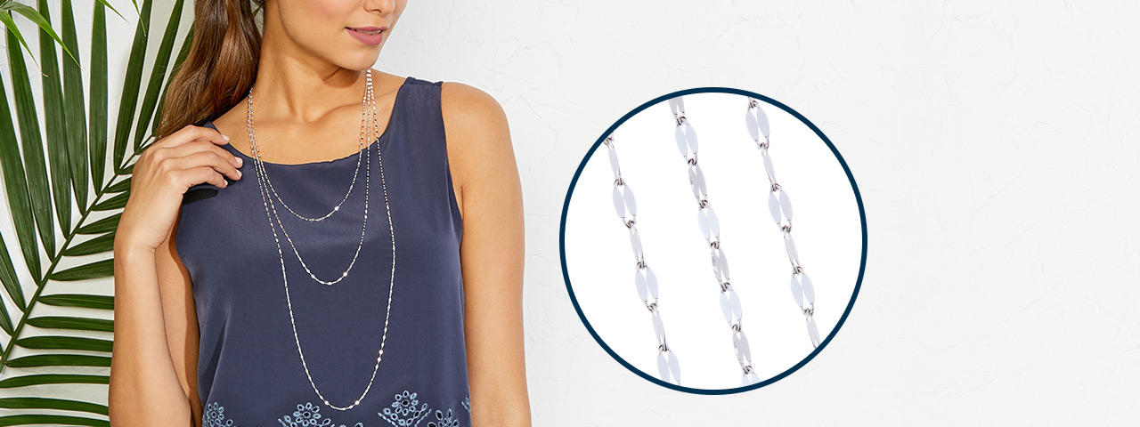 HSN's Today's Special. a triple set of silver necklaces
